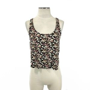 Forever 21- Cross Back Floral Crop Tank Small Jrs